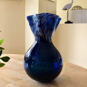 Beautiful Dark Blue and Gray Vase